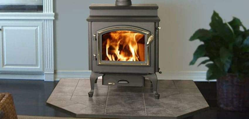Quadra Fire 4300 Step Top Wood Stove Seed Pellet